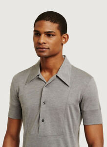 Kit and Ace Grey Cashmere Mix Turning Point Polo Shirt Short Sleeve S M L XL NWT