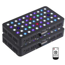 Bloomspect 2Pc-165W Led Aquarium Light Built-in Timer Spslps Coral Reef Dimmable
