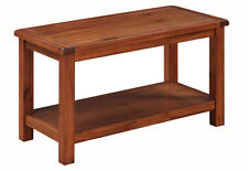 Prussia Acacia Coffee Table / Solid Dark Wood Lamp Table / Rectangular Table