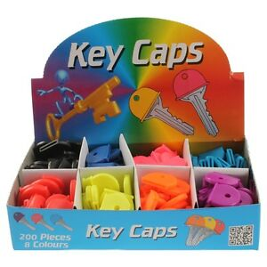 Rubber key top Covers Key Covers Coloured Tops for keys Plastic Bright Key 10X