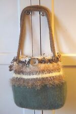 Handmade Knitted Felted Purse   Shoulder Bag    Beautiful!  EXC