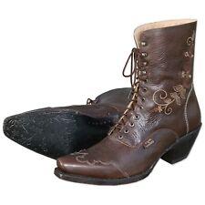 Boulet 6369 3e Bison Old Town oro//señores westernreitstiefel marrón//señores botas