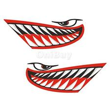 2Pcs Big Shark Mouth Tooth Decals Stickers for Kayak Boat Jet Ski Car Window