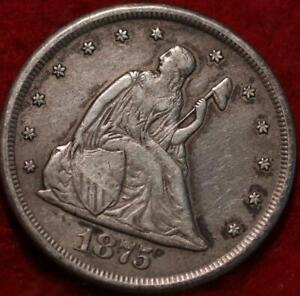 1875-CC Carson City Mint Twenty Cent Silver Coin