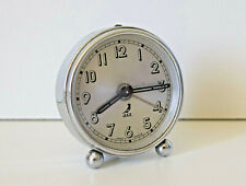Réveil Ancien JAZ en Chrome Hauteur 6,5 cm