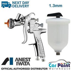 Anest Iwata AZ3 HTE S IMPACT Chrome Flash Spray Gun Ltd Edition 1.3mm Tip