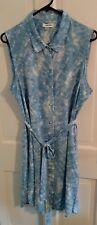 Sz 16 baby blue and white CALVIN KLEIN spring/summer Dress. Adorable!