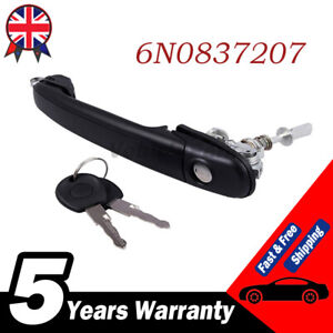 For Ford VW Polo Door Handle Front Right Side Driver Lock Barrel Keys 6N0837207