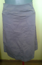 Ladies Womens Grey A-Line Skirt Stretch Cotton Yarra Trail Size 12