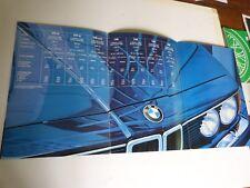 catalogue prospectus : BMW  628i 635csi 728i 728i (2,5l) 732i 735i 745i année 80