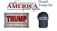 3x5 Donald Trump President White #2 Blue Hat Flag Set 3'x5'
