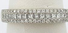 0.72 ct 18K White Gold Round & Princess Diamond Wedding / Anniversary Ring
