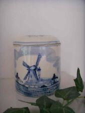 """Alte Porzellan Keramik Dose """" Delft"""" Handmade Blue Holland"""