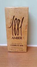 1881 Amber by Cerruti eau de toilette spray 50ml cellophane sealed