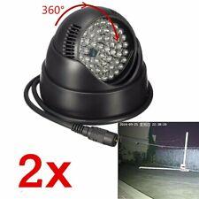 2Pcs 48 LED Illuminator Light Lamp IR Infrared Night Vision For CCTV Camera