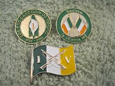 """Ireland 100 Years 3Pc """"Easter Lily & Saoirse """"I Am Of Ireland"""" & Volunteers Pins"""