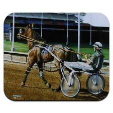Harness Racing Track Horse Racer Low Profile Thin Mouse Pad Mousepad