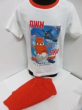 Planes 2 tlg. Shorty *  Gr. 128 ** Weiß/Orange *