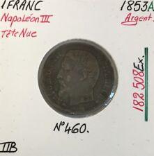 1 FRANC NAPOLEON III - 1853A - Pièce de monnaie en Argent // TTB