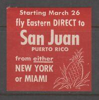 Puerto Rico Cinderella Revenue fiscal stamp- 8-21-19 mnh gum