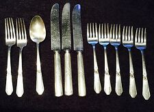 New ListingFestival Hiawatha 11 Pc Rogers 1938 Int'l Silver Plate Forks, Knives & Spoon Vtg