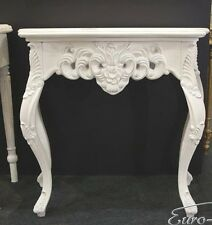 Wall Bracket White Sideboard Baroque Antique Console Big Side Table Wandkommode