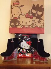 Hello Kitty 40th Jeffrey Campbell Cosplay Black Icy Bootie Size 8