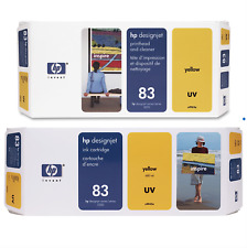 HP 83 Yellow Printhead, Cleaner & Ink Cartridge C4963A C4943A C5003A GENUINE NEW
