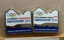 2010 VANCOUVER THE CANADIAN PRESS MEDIA OLYMPIC WINTER GAMES 2 PIN SET