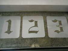 Old English 5 Inch Numbers 0-9 Stencil Set!