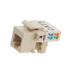 Snap in RJ11 4P4C Telephone Modular Socket Module Connector White