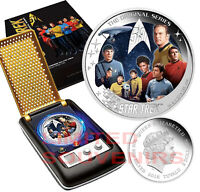 2016 STAR TREK Original Series 2 oz SILVER Communicator The Crew PERTH MINT NEW