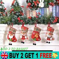 Christmas Stocking Knit Sock Santa Elk Candy Gift Bags Xmas Trees Hanging Decor