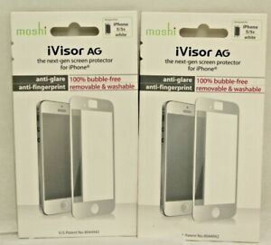 Apple iPhone 5, 5s, or 5c Screen Protector by Moshi iVisor AG Black or White