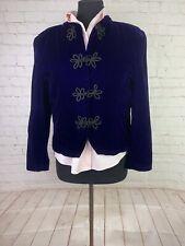 Talbots Women's purple velvet skirt suit size 14p $349