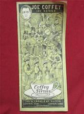 Vintage Joe Coffey 101 Songs Amusement Company Chicago Illinois - Old Paper