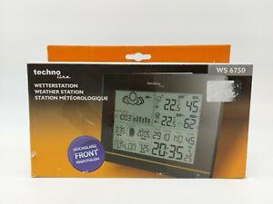 Technoline WS 6750 Wetterstation Vorhersage für 12 bis 24 Stunden, Schwarz