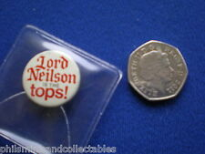 Lord Neilson Ice Cream ' Lord Neilson is the Tops '   pin badge   1960s