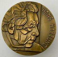 """France - Carrega 1975 bronze art medal """"Hans Hartung"""" 68 mm, 283 gr."""