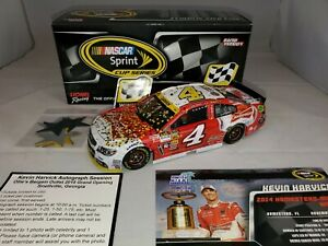 KEVIN HARVICK #4 2014 BUDWEISER HOMESTEAD RACED WIN 1/24 DIECAST **AUTOGRAPHED**
