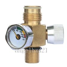 New paintball CO2 Tank On/Off Valve with 3000 Psi Gauge