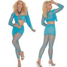 Bandeau Top Skirt Jacket and Leggings Lingerie One Size Regular Lingerie EM1554