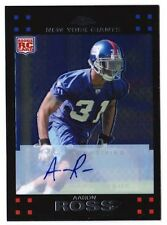 Aaron Ross 2007  Topps Chrome #TC250 AUTOGRAPH New York Giants Rc