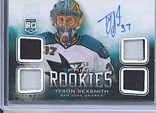 Tyson Sexsmith 2012-13 Panini Prime Rookie Auto/Autograph Jsy/Jsy/Patch/Patch/50