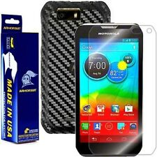 ArmorSuit MilitaryShield Motorola Photon Q 4G LTE Screen+Black Carbon Fiber Skin