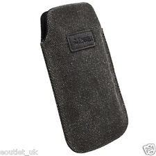 Krusell Uppsala Long Pouch Case For iPhone SE/5s/5 - Black BRAND NEW