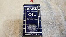 Vintage Wahl Hair Clipper Oil Tin Can Oiler Full Unopened