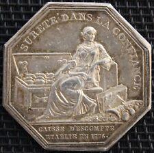 JETON CAISSE D'ESCOMPTE ETABLIE EN 1776 ARGENT