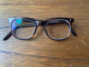 Vintage 1960's NHS Eyeglasses frames original prescription lenses case
