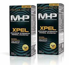 MHP Xpel Maximum Strength Diuretic Capsules, 80 Count (Pack of 2) (Packaging May